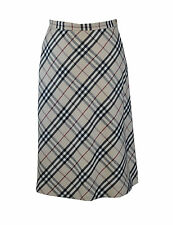 ** Burberry ** Classic Pattern ** Skirt ** Genuine ** Pure Wool ** Size 10 **