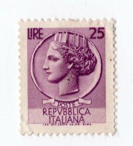 """Francobollo """"Siracusana"""" - 25 LIRE - Repubblica Italiana"""