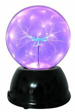 "Lightahead 6"" Plasma Ball Lamp with Purple Color Butterfly globe design Touch..."