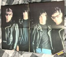 Ramones / Accept / Joey Ramone / Wolf Hoffmann / 1980'S 4 Page Magazine Poster