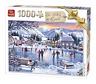 1000 Pezzi Inverno Puzzle Pattinaggio su Ghiaccio Sul Laghetto Neve Skate Rink