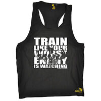 Train Like Your Worst Enemy Is Watching Vest Gym Weights Training birthday gift