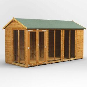 Power Apex Summerhouse l Power Sheds l Summerhouse Size 14x6, 16x6, 18x6, 20x6