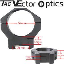 Vector Optics Tactical Mark anillos de alcance 34mm Picatinny montaje ajuste Schmidt Bender