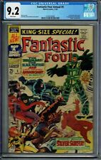 CGC 9.2 FANTASTIC FOUR ANNUAL #5 WHITE PGS 1ST PSYCHO-MAN 1ST SOLO SILVER SURFER