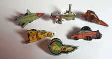Vintage THUNDERBIRDS Vehicles/Ships Metal Pin Set of 6- FREE S&H (TBPI-Set-01)