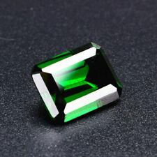 UNHEATED Dazzling Olive Green Sapphire 10x14mm Diamond Emerald Loose GEMSTONE