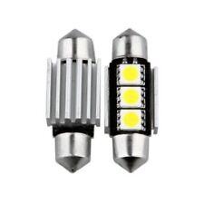 COPPIA LAMPADE 3 LED SMD LAMPADINE CANBUS A SILURO AUTO LUCE BIANCO GHIACCIO