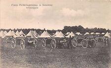 AK Franz. Militärlagerleben in Sissonne Artilleriepark Feldp. 3.Res. Pion. Komp.