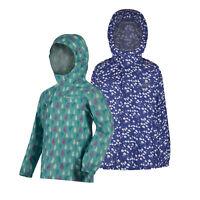 Regatta Printed Pack It Kids Girls Packaway Waterproof Breathable Jacket RRP £25