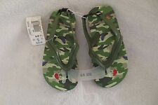 Boy Toy R Us Summer Flip-Flop Sandal Size 9-10  Green With Bugs Print Cute New