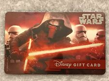 NEW METALLIC WALT DISNEY WORLD STAR WARS DARK LORD GIFT CARD, THE FORCE AWAKENS
