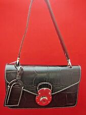 DOONEY & BOURKE Brown Leather NEW Shoulder Bag made in ITALY