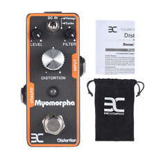 ENO Pro Distortion Guitar Effect Pedal True Bypass Myomorpha Black Portable F6X0