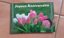 Carte d'anniversaire (fleurs) ou faire-part anniversaire.... Neuve ....