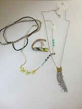 American Eage Outfitters Lot of Necklaces Barcelet Headband Set of 4 PIeces