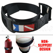 Scuba Diving Dive Cylinder Tank Band with Cam Buckle w/ Dive Flag Logo