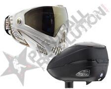 Dye Precision I5 R2 Paintball Mask Loader Combo White Gold Black