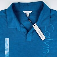 Calvin Klein Mens Polo Shirt Cotton Size XL Blue New With Tags
