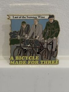 Pin Badge LAST OF THE SUMMER WINE A BICYCLE MADE FOR THREE The Danbury Mint