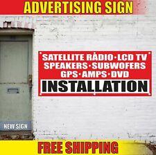 INSTALLATION LCD TV RADIO SPEAKERS GPS Advertising Banner Vinyl Mesh Decal Sign