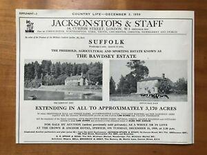 The Bawdsey Estate - Suffolk - For Sale - 1959 Press Cutting r399