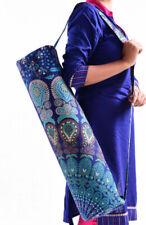 Mandala Bohemian Yoga Mat Carrier Bag Shoulder Strap Washable Gym Exercise Bag