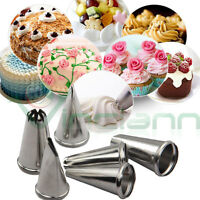 Set 6 beccucci kit base punte sac a poche decorazione torta dolci cake design