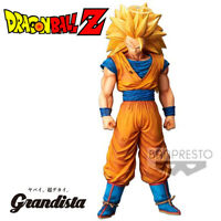 DRAGON BALL Z Figurine SON GOKU SAIYAN SSJ3 GRANDISTA 28 cm NERO BANPRESTO