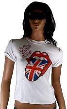AMPLIFIED ROLLING STONES Union Jack UK Zunge Vintage T-Shirt S 36/38