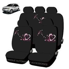 PINK /& BK HONEYCOMB SPLIT BENCH SEAT COVERS 6PC SET FOR SUVS 1146