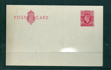 GB 1940 1d Carmine on Thick White Card stock postcard mint (H & G 61a)