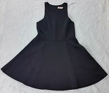 Hollister Abercrombie Fitch Womens Large L Black Sleeveless Skater Dress Summer