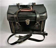 """LEATHER CAMERA CASE """"REDUCED"""" VINTAGE HEAVY DUTY w/ZIPPERS, NICE SHOULDER STRAP"""