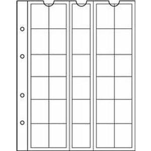 Münzhüllen NUMIS, 30 Fächer bis 25 mm Ø, 5er Pack