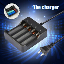 4 Slots Battery Charger Smart Charging Us For 18650 Rechargeable Li-Ion Battery