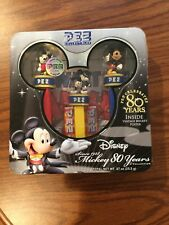 PEZ Collectibles Disney Mickey Mouse 80 Years Ltd Ed with sealed tin, poster NEW