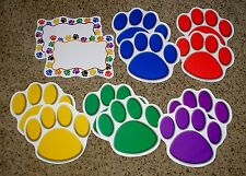 Teacher Resource: 12 Large Paw Print Bulletin Board Accents - NEW