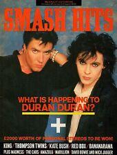 Duran Duran on Smash Hits Magazine Cover 1985   Paul King  Kate Bush  Bananarama