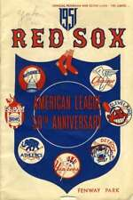 YUKON ERIC Rare D65 JSA Coa Autograph 1951 Red Sox Program Signed