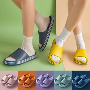 Men Women Super Soft Home Slippers Unisex Bathing Platform Slippers