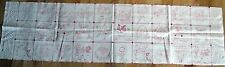 """1 Redwork """"Love Makes The Garden Grow"""" Cotton Fabric Quilting Crafting Panel"""