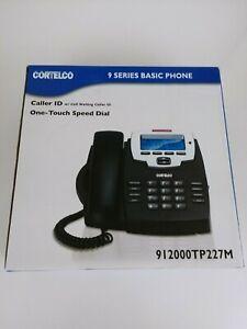 Cortelco 9 Series Basic Telephone Black Phone Caller ID Speed D 912000TP227M