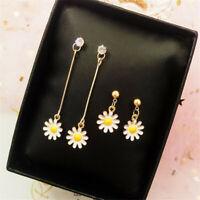 1 Pair Daisy Flower Earrings Drop Dangle Ear Studs Women Party Jewelry Gift