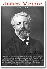 Jules Verne - NEW Famous French Poet, Playwright & Author Classroom POSTER