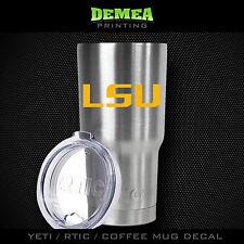 Lsu Tigers -Yeti/Rtic/Yeti Rambler/Tumbler/Coffee Mug-Decal-Yellow