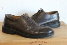 VINTAGE MEN'S BROWN LEATHER WING TIP BROGUES SIZE 9 / 43 USED CONDITION
