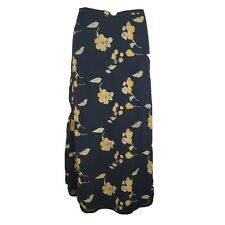 Ann Taylor Long Floral Silk Skirt Women's Size 8