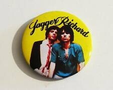Vintage Badge - THE ROLLING STONES : Mick Jagger / Keith Richards * 70's