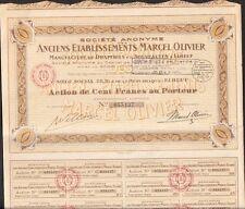 Anciens Etablissements MARCEL OLIVIER, Manufacture & Drapier à ELBOEUF (76) (T)